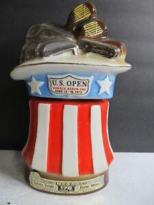 Jim Beam U.S. Open Pebble Beach California 1972 Golf Tournament Decanter Empty