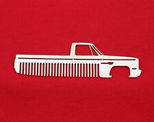 73-87 Chevy Truck Brushed Stainless Steel Metal Trim Beard Hair Mustache Comb