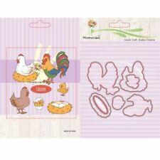 Chicken Silicone Stamp Metal Cutting Dies Stencil For Scrapbook Album Decor DIY