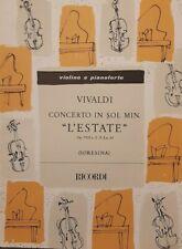 VIVALDI - Concerto L' ESTATE per violino e pianoforte - ed Ricordi
