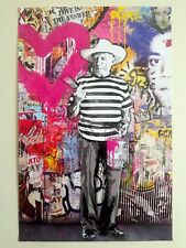 "MR. BRAINWASH "" PICASSO "" AUTHENTIC LITHOGRAPH PRINT POP ART GRAFFITI POSTER"