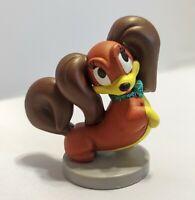 Fifi Dog Disney Pluto's Girlfriend Glitter Bow PVC Figure Figurine Cake Topper
