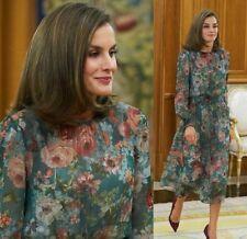 ZARA FLOWING FLORAL PRINTED LONG DRESS MAXIKLEID KLEID BLUMENPRINT SIZE S M L