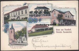 Gruss aus Parndorf Pándorfalu Bahnhof Schule Hotel Kramer Pfarrhaus Kirche