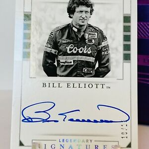 Bill Elliott SSP /15 *LEGENDARY SIGNATURES* AUTO 2020 National Treasures Racing