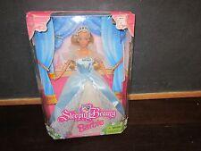 New Disney Princess Sleeping Beauty Barbie Mattel NIB box Doll Blue Dress Crown