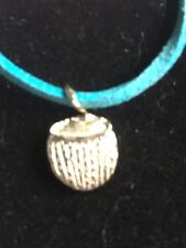 """Coconut Drink TG215 Fine English Pewter On 18"""" Blue Cord Necklace"""