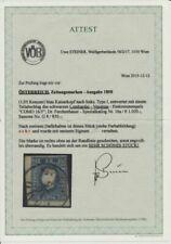 Gestempelte Briefmarken aus Österreich mit BPP-Fotoattest