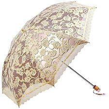 US Princess Women Parasol Sun Protection Anti-UV Folding Wedding Bridal Umbrella