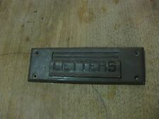 "ANTIQUE BRASS MAIL SLOT - made in Germany - ""LETTERS"" - door hardware 8"" x 2.5"""