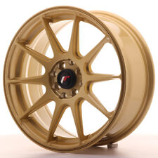 "Un Cerchio in Lega Japan Racing JR11 17"" x 7.25"" ET35 4 x 100 / 114.3 Oro Gold"