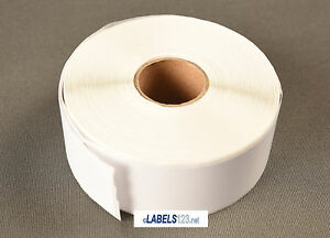 """4 Rolls White Shipping Labels 1"""" x 2-1/8"""" 30336 Compatible w/ Dymo® LabelWriter"""