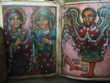 UNIQUE Antique Bible Copte Manuscrit Coptic Bible