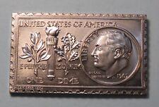 1965 United States Roosevelt Dime Numistamp Medal 1974 Mort Reed