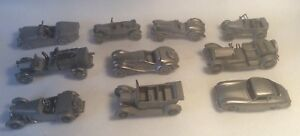 Collectable Danbury Mint Pewter Cars x 50