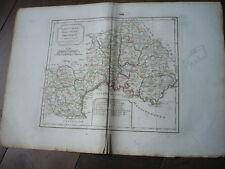 CARTE LANGUEDOC DAUPHINE PROVENCE 1805 VAUGONDY