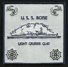 US NAVY USS BOISE CL-47 BROOKLYN CLASS LIGHT CRUISER MILITARY PATCH