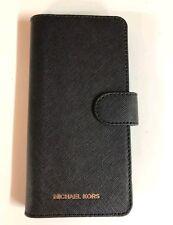 177186d320d3 Michael Kors Saffiano Leather Folio Wallet Case for Galaxy S8 (plus) Black