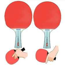 2-Pack Table Tennis Ping-Pong Racket Paddle Long Haddle Rackets Paddles BT