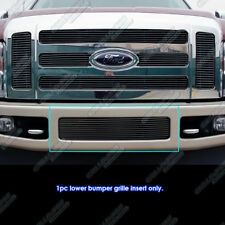 Fits 08-10 Ford F-250/F-350 SD Black Lower Bumper Billet Grille