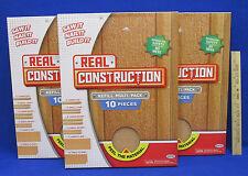 Jakks Real Construction Building Toys 10 Piece Refill Multi Pack X 3 Boxes 30Pcs