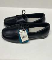 NWOB Cobbie Cuddlers Cacey Black Leather Shoes Memo-Tech Lace-Up Women 8 Wide