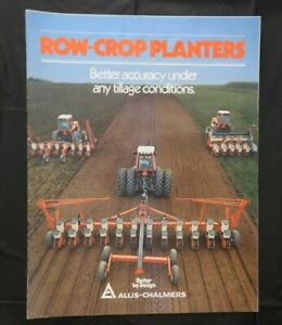 1982 ALLIS-CHALMERS 73 74 78 79 300 330 333 390 600 ROW-CROP PLANTERS BROCHURE