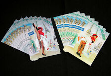 LOT 16 CPSM FRENCH CANCAN PIGALLE MISS DANSEUSE PIN-UP FROUFROU RESILLE SEXY