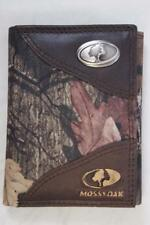 ZEP PRO SALTWATER REDFISH Drum Crazy Horse Leather trifold Wallet Tin Gift Box