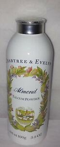 crabtree evelyn almond body powder talcum sealed