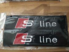 Seat belt pads S line logo padded cotton pads quattro