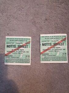 Celtic V Nottingham Forest Match Tickets 1983