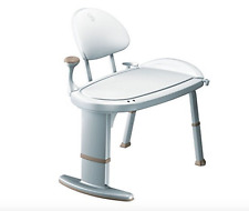 Bath Bench Or Shower Chair Handicap Stool With Back And Arm Seats For Elderly
