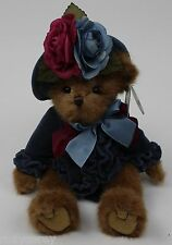 "The Bearington Collection 14"" Fancy Fedora Brown Plush Bear 179933 Nwt"