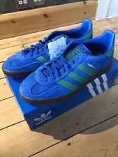 Adidas Gazelle Indoor UK8.5 8 1/2 EE5735 Lus Blue Suede Gum Originals Shoes Og