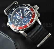 DEEP BLUE 40mm PEPSI BEZEL Dark Blue Dial 1000 SAPPHIRE Watch w/ Extra Strap