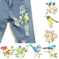 1 X Blume Handwerk Nähen bestickt Nähen / Aufbügeln Vögel Patch Y0N7 Appliq Y0J5