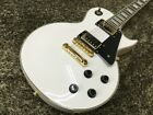 Vintage V100AW Les Paul Custom Wilkinson White Electric Guitar Japan Shipped for sale