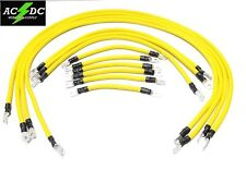 # 2 Awg HD Golf Cart Battery Cable 13 pc YELLOW TXT E-Z-GO Set U.S.A MADE