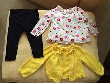 EEUC Toddler Girl 12 18 mos. blouse, sweater, leggings black yellow red white