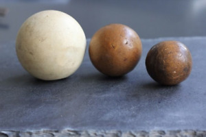 Vintage Polo Balls Bamboo Wood Pulp Classic Outdoor Prop Display Gift (3 Balls)