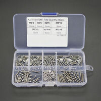 230pc M2 Stainless Steel Metric Hex Socket Button Head Screw Bolts Nuts Assorted