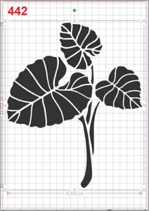 Tropical Leaves Plant Stencil MYLAR A4 sheet strong reusable Art Craft WALL DECO