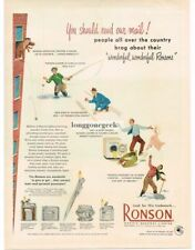 1950 Ronson Lighters Whirlwind Crown Adonis Pencilighter art Vintage Print Ad
