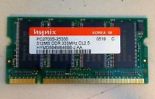 512mb DDR 333 pc2700s Hynix SODIMM RAM ACER ASPIRE 1360 1362lc #1