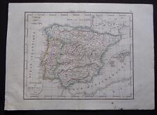 § carte Espagne et Portugal - Félix Delamarche 1829
