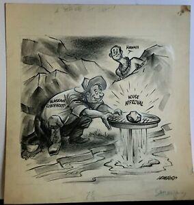 BILL CRAWFORD original cartoon artwork.
