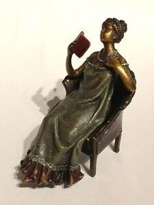 Franz Bergmann / Bergman Vienna Bronze Lady Original Three Section Nude Figurine