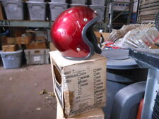 Vintage All Sport Small Poly Candy Burgundy Open Face 5 Snap Moto Helmet 2010-1