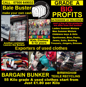 Used clothes 55 kilo grade A  bales, Visit or call our factory for more details